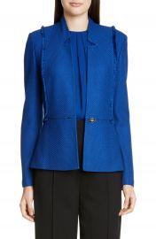 St  John Collection Gridded Texture Knit Jacket   Nordstrom at Nordstrom
