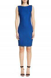 St  John Collection Gridded Texture Knit Sheath Dress   Nordstrom at Nordstrom