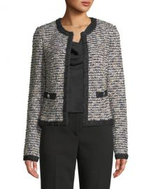 St  John Collection Inlaid Eyelash Tweed Jacket at Neiman Marcus