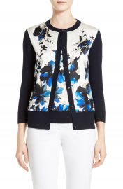 St  John Collection Painted Oleander Cardigan at Nordstrom