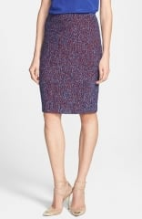 St John Collection Looped Lash Tweed Knit Pencil Skirt at Nordstrom