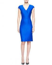 St John Collection Matte and Shine Chevron Knit Dress at Neiman Marcus
