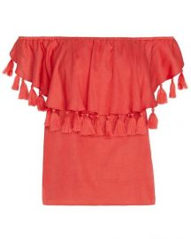 St Roche Off The Shoulder Tassel Top at Intermix