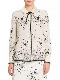 St Stars Marocain Silk Blouse at Saks Fifth Avenue