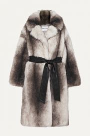 Stand Studio -   Pernille Teisbaek Clara oversized belted faux fur coat at Net A Porter