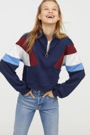 Stand up Collar Sweatshirt by H&M at H&M
