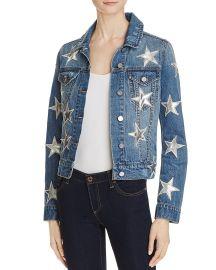 Star Patch Denim Jacket Bagatelle at Bloomingdales