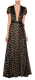 Star Print Chiffon Gown at Stylebop