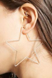 Star Shape Hoop Earrings   Forever 21 - 1000138996 at Forever 21