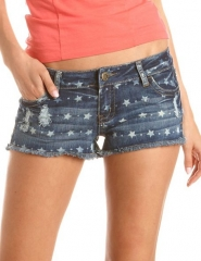 Star print shorts at Charlotte Russe
