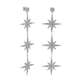 Starburst 3 drop earrings by Sydney Evan at Sydney Evan