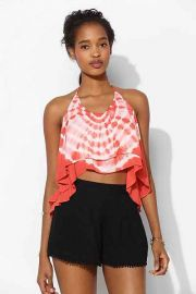 Staring at Stars Tie Dye Crop Top in orange at Urban Outfitters