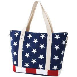 Stars and Stripes USA Flag Canvas Tote Bag at Amazon