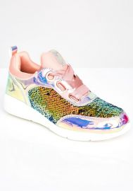 Static Spark Sequin Sneakers at Dolls Kill