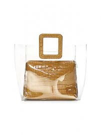 Staud - Shirley PVC  amp  Croc-Embossed Leather Tote at Saks Fifth Avenue