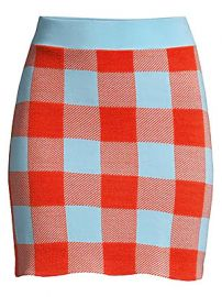 Staud - Sonoma Check Cotton Mini Skirt at Saks Fifth Avenue