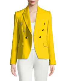 Stella McCartney Peak Faux Double-Breasted Tailored Blazer at Neiman Marcus