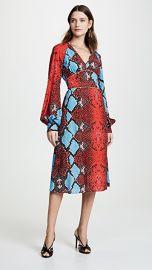 Stella Jean Snake Print V Neck Dress at Shopbop