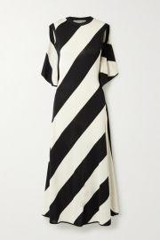 Stella McCartney -   NET SUSTAIN striped stretch-knit midi dress at Net A Porter