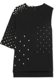 Stella McCartney   Asymmetric faux pearl-embellished cady top at Net A Porter