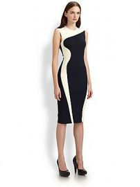 Stella McCartney - Colorblock Body-Con Dress at Saks Fifth Avenue