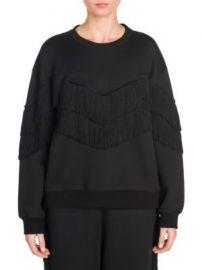 Stella McCartney - Cotton Fringe Sweatshirt at Saks Fifth Avenue