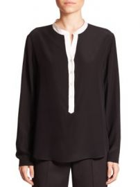 Stella McCartney - Eva Silk Tuxedo Blouse at Saks Fifth Avenue