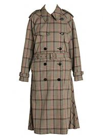 Stella McCartney - Prince Of Wales Japanese Check Trench Coat at Saks Fifth Avenue