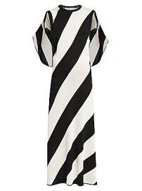 Stella McCartney - Sleeveless Striped Cape-Back Knit Maxi Dress at Saks Fifth Avenue