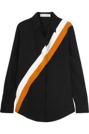 Stella McCartney   Striped silk crepe de chine shirt at Net A Porter