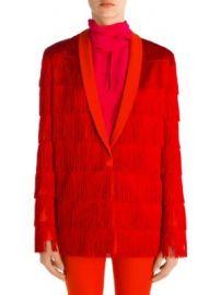 Stella McCartney - Tia Wool Fringe Jacket at Saks Fifth Avenue
