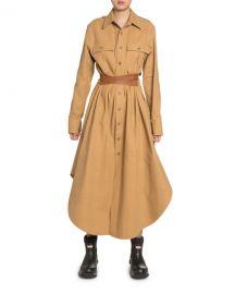 Stella McCartney Cotton Belted Maxi Shirtdress at Neiman Marcus
