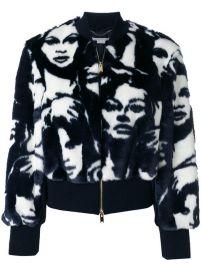 Stella McCartney Cropped Face Print Jacket at Farfetch