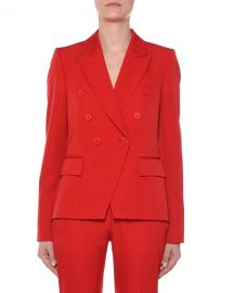 Stella McCartney Faux Double-Breasted Tailored Wool Blazer at Neiman Marcus