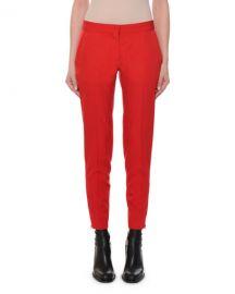 Stella McCartney Flat-Front Slim-Leg Ankle Pants at Neiman Marcus