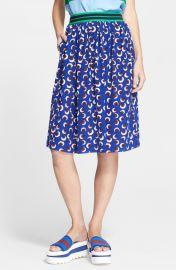 Stella McCartney Floral Print Silk Skirt at Nordstrom