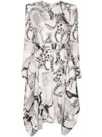 Stella McCartney Kalyn horse-print dress Kalyn horse-print dress at Farfetch