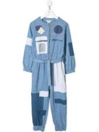 Stella McCartney Kids patchwork denim jumpsuit at Farfetch