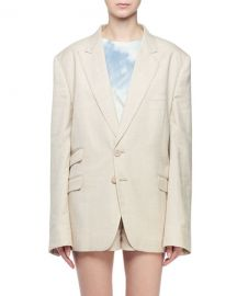 Stella McCartney Linen Boyfriend Blazer Jacket at Neiman Marcus