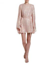 Stella McCartney Metallic Animal-Spot Jacquard Silk Mini Dress at Neiman Marcus