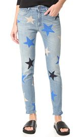 Stella McCartney Skinny Boyfriend Star Print Jeans at Shopbop