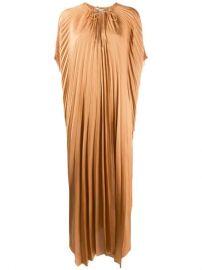 Stella McCartney cape-sleeve Pleated Dress - Farfetch at Farfetch
