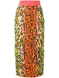 Stella Mccartney leopard skirt at Farfetch