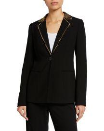 Stella One-Button Stud-Trim Jacket at Bergdorf Goodman