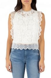 Stella Sleeveless Cotton Blend Lace Top at Nordstrom