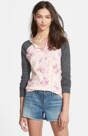Stem Two Tone Henley Top at Nordstrom
