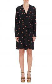 Stephania Lip-Print Silk Shirtdress at Barneys