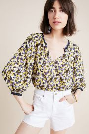 Sterling Blouse Velvet by Graham Spencer at Anthropologie