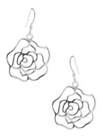 Sterling Silver Rose Earrings at Lord & Taylor