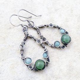 Sterling Silver Teardrop Earrings at Etsy
